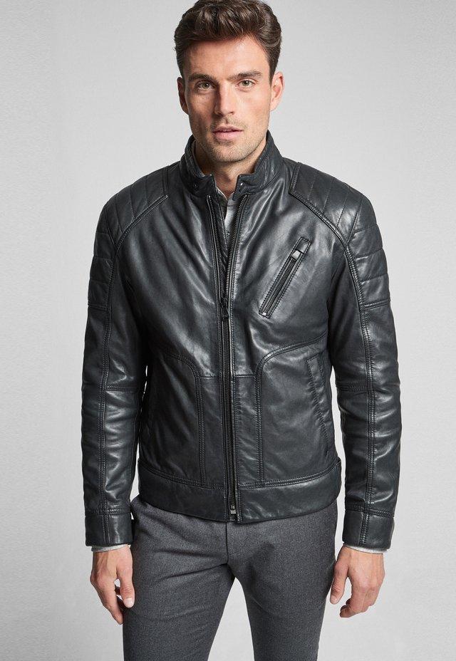 LIMA - Veste en cuir - schwarz