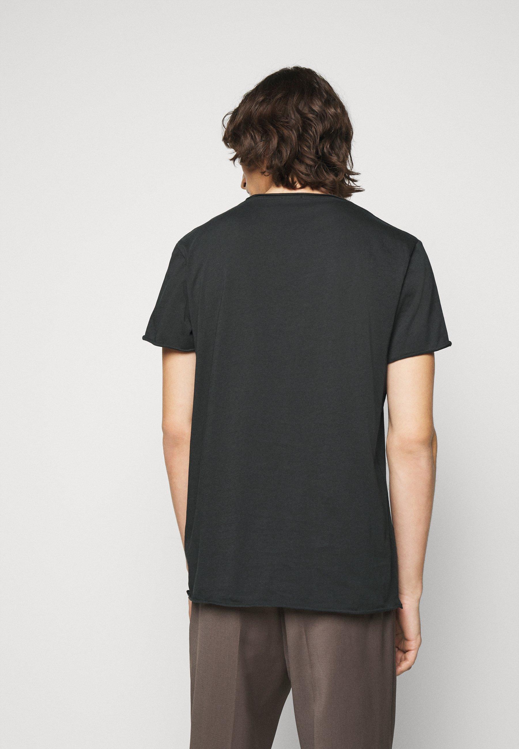 Filippa K ROLL NECK TEE - Basic T-shirt - dark spruce JK7eS