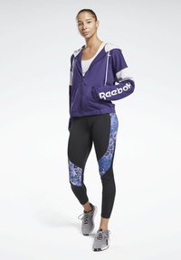Reebok - LINEAR LOGO FRENCH TERRY ZIP UP HOODIE - Zip-up hoodie - purple - 1