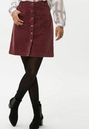 STYLE KIM - A-line skirt - raisin