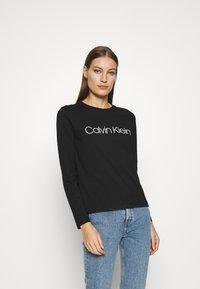 Calvin Klein - CORE LOGO CREW TEE - Long sleeved top - black - 0