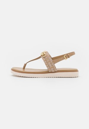 ROXANE THONG - T-bar sandals - camel