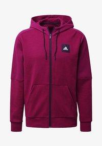 adidas Performance - MUST HAVES FULL-ZIP STADIUM HOODIE - Zip-up hoodie - purple - 7