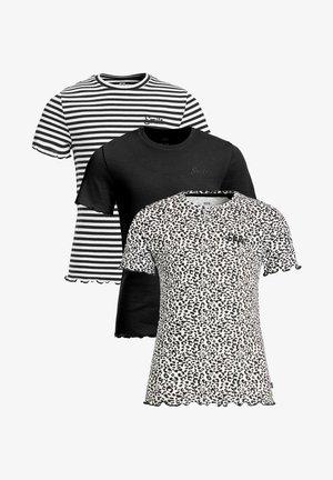 3 PACK - T-shirt print - black