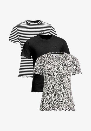 3 PACK - Print T-shirt - black