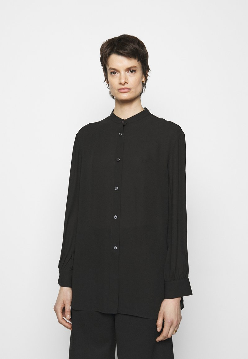 Filippa K - LAYLA BLOUSE - Button-down blouse - black