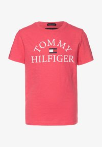Tommy Hilfiger - ESSENTIAL LOGO - T-shirt z nadrukiem - pink - 0