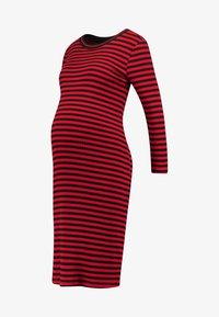 DRESS STRIPE - Jersey dress - tango red