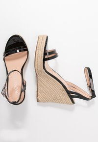 Even&Odd Wide Fit - Korolliset sandaalit - black - 1