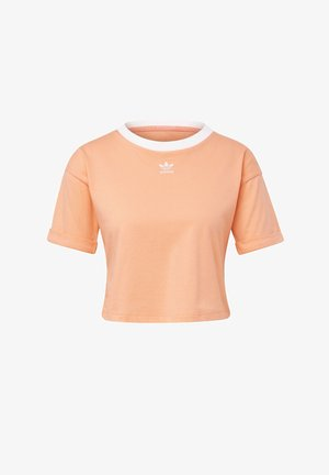 CROP TOP - Print T-shirt - orange