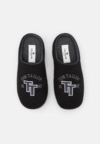 TOM TAILOR - Tofflor & inneskor - black - 3
