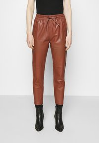 Oakwood - GIFT - Leather trousers - light brown - 0