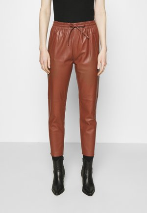 Leather trousers - light brown