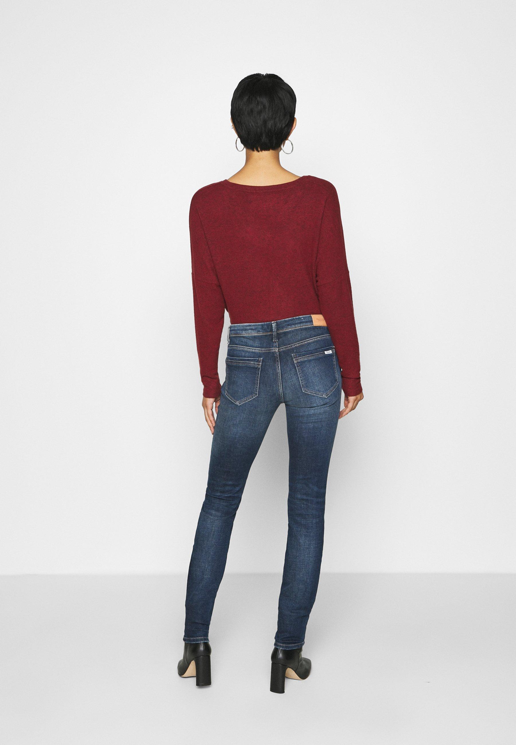 Outlet Women's Clothing Marc O'Polo DENIM ALVA Jeans Skinny Fit dark-blue denim ZO7pXSFa4