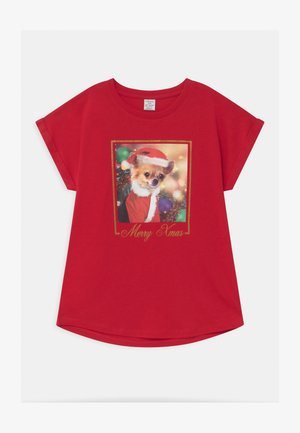 HOLIDAY CHIHUAHUA CHRISTMAS - Print T-shirt - red