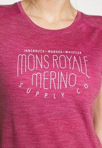 Mons Royale - VAPOUR TEE - T-Shirt print - rosewood - 4