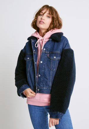 COCOON SHERPA TRUCKER - Denim jacket - hot fuzz