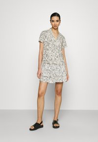 JDY - A-line skirt - tapioca/black - 1