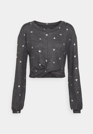 PRINTED COZY CREW - Pyžamový top - grey