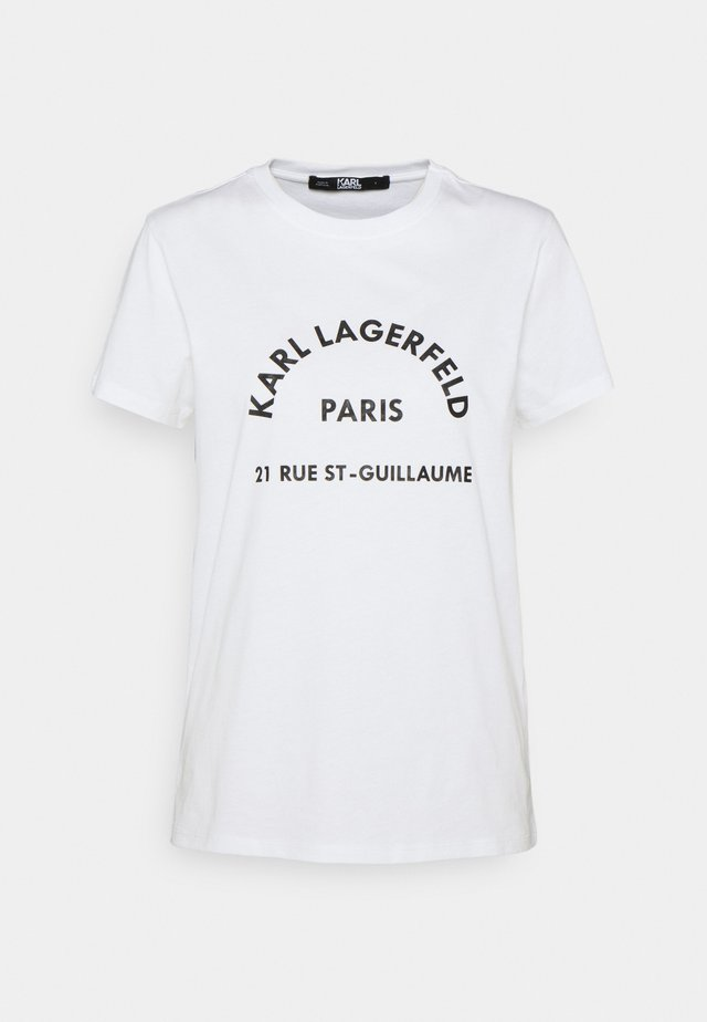 ADDRESS LOGO TEE - T-Shirt print - white