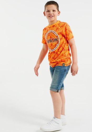 Print T-shirt - bright orange