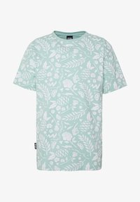 LEAVES WIRES TEE - Print T-shirt - mint
