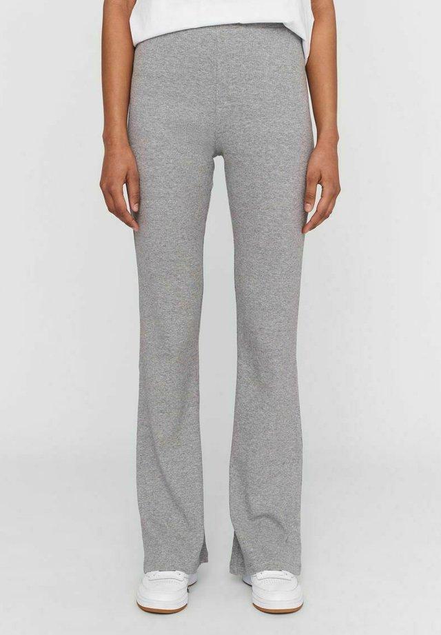 HIGH WAIST - Pantaloni - light grey melange