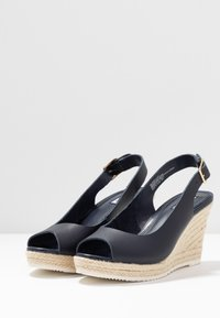 Dune London WIDE FIT - WIDE FIT KNOX  - High heeled sandals - navy - 4