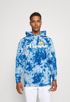 GOTTERO TIE DYE HOODY - Sweatshirt - blue
