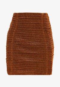 House of Holland - GATHERED MINI SKIRT - Mini skirt - bronze - 4