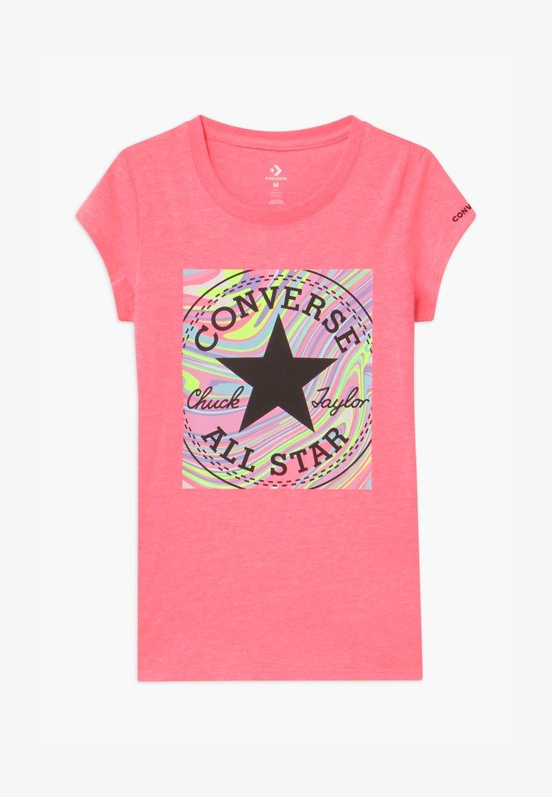 Converse - MARBLE CHUCK PATCHBOX TEE - T-shirt imprimé - pink