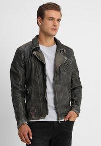 Freaky Nation - ROCKATANSKY - Leather jacket - oliv - 2