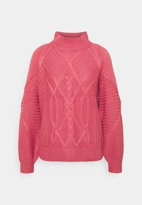 CABLE HIGH NECK JUMPER - Svetr - dusky rose