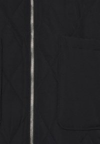 Missguided - QUILTED LONGLINE COAT - Parka - black - 2