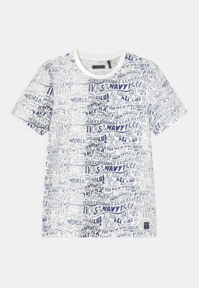 T-shirt con stampa - blanc cassé