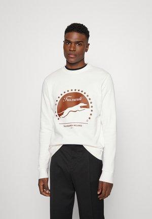 PRINT BRUSHED - Sweater - white