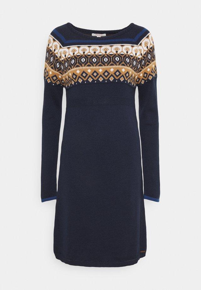 DRESS - Strikket kjole - night sky blue