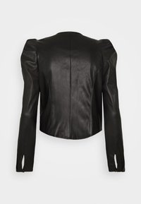 Who What Wear - CROPPED WRAP - Blouse - black - 1
