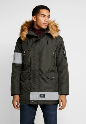 REFLECTIVESTRIPES - Winter coat - black oliv