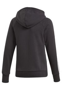 adidas Performance - MUST HAVES 3-STRIPES HOODIE - Sudadera con cremallera - black - 1