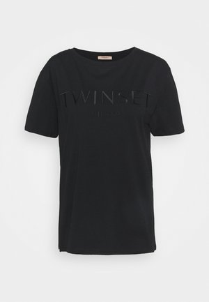 CON LOGO - Basic T-shirt - nero