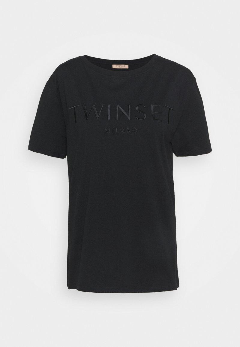 TWINSET - CON LOGO - T-shirt basique - nero