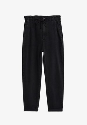 LOOSE - Pantalon classique - black denim