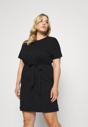 CAP SLEEVE MINI DRESS - Jersey dress - black