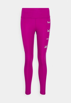 RUN EPIC FAST - Leggings - red plum/reflective silve