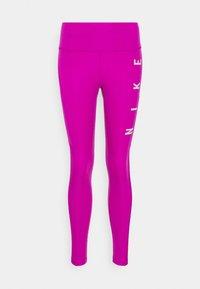 Nike Performance - RUN EPIC FAST - Leggings - red plum/reflective silve - 5