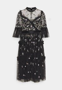 Needle & Thread - SHIMMER DITSY LONG SLEEVE DRESS - Cocktailklänning - graphite - 0