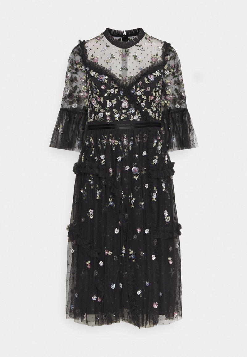 Needle & Thread - SHIMMER DITSY LONG SLEEVE DRESS - Cocktailklänning - graphite