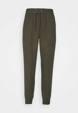 ONLKELDA EMERY PULL UP PANTS - Trousers - grape leaf