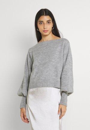 VIRIK OFF SHOULDER - Jersey de punto - light grey melange